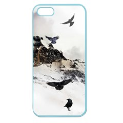 Birds Crows Black Ravens Wing Apple Seamless Iphone 5 Case (color)