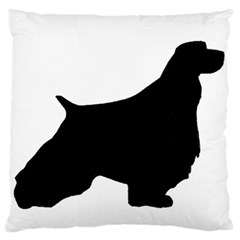 English Springer Spaniel Silo Black Large Flano Cushion Case (Two Sides)