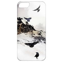 Birds Crows Black Ravens Wing Apple iPhone 5 Classic Hardshell Case