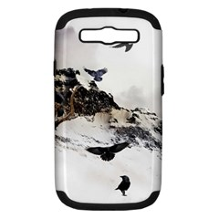Birds Crows Black Ravens Wing Samsung Galaxy S III Hardshell Case (PC+Silicone)