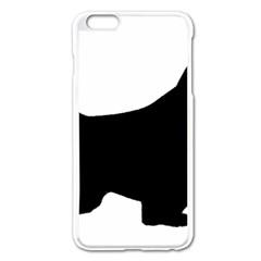 English Springer Spaniel Silo Black Apple iPhone 6 Plus/6S Plus Enamel White Case