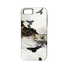 Birds Crows Black Ravens Wing Apple Iphone 5 Classic Hardshell Case (pc+silicone)