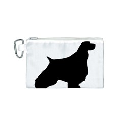 English Springer Spaniel Silo Black Canvas Cosmetic Bag (S)