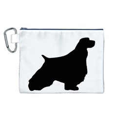 English Springer Spaniel Silo Black Canvas Cosmetic Bag (L)