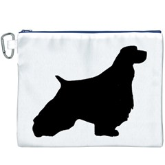 English Springer Spaniel Silo Black Canvas Cosmetic Bag (XXXL)