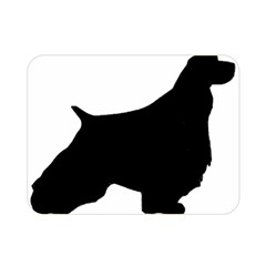 English Springer Spaniel Silo Black Double Sided Flano Blanket (Mini)