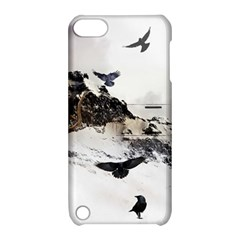 Birds Crows Black Ravens Wing Apple iPod Touch 5 Hardshell Case with Stand
