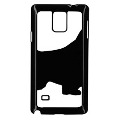 English Springer Spaniel Silo Black Samsung Galaxy Note 4 Case (Black)