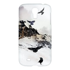 Birds Crows Black Ravens Wing Samsung Galaxy S4 I9500/i9505 Hardshell Case