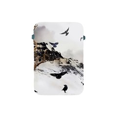 Birds Crows Black Ravens Wing Apple Ipad Mini Protective Soft Cases