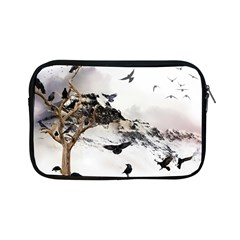 Birds Crows Black Ravens Wing Apple Ipad Mini Zipper Cases