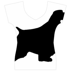 English Springer Spaniel Silo Black Women s V-Neck Cap Sleeve Top