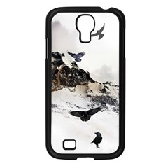 Birds Crows Black Ravens Wing Samsung Galaxy S4 I9500/ I9505 Case (black)