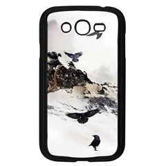 Birds Crows Black Ravens Wing Samsung Galaxy Grand DUOS I9082 Case (Black)