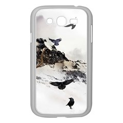 Birds Crows Black Ravens Wing Samsung Galaxy Grand Duos I9082 Case (white)