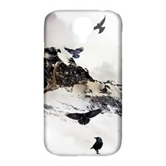 Birds Crows Black Ravens Wing Samsung Galaxy S4 Classic Hardshell Case (PC+Silicone)