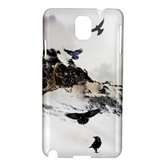 Birds Crows Black Ravens Wing Samsung Galaxy Note 3 N9005 Hardshell Case