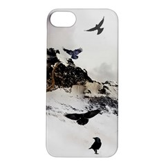 Birds Crows Black Ravens Wing Apple Iphone 5s/ Se Hardshell Case