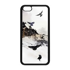 Birds Crows Black Ravens Wing Apple Iphone 5c Seamless Case (black)