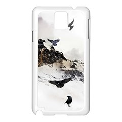 Birds Crows Black Ravens Wing Samsung Galaxy Note 3 N9005 Case (white)