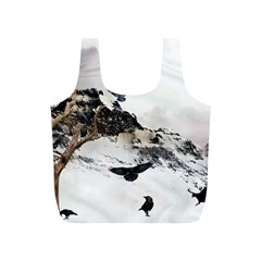 Birds Crows Black Ravens Wing Full Print Recycle Bags (s)