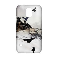 Birds Crows Black Ravens Wing Samsung Galaxy S5 Hardshell Case