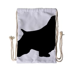 English Springer Spaniel Silo Black Drawstring Bag (Small)