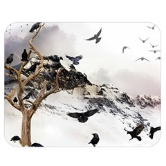 Birds Crows Black Ravens Wing Double Sided Flano Blanket (Medium)