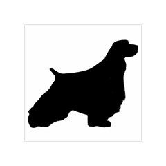English Springer Spaniel Silo Black Square Tapestry (Small)
