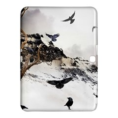 Birds Crows Black Ravens Wing Samsung Galaxy Tab 4 (10.1 ) Hardshell Case