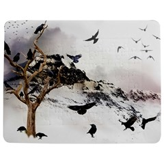 Birds Crows Black Ravens Wing Jigsaw Puzzle Photo Stand (Rectangular)