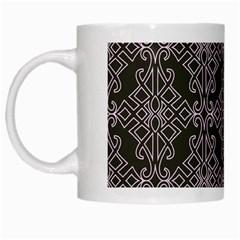 Line Geometry Pattern Geometric White Mugs