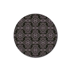 Line Geometry Pattern Geometric Rubber Coaster (round)