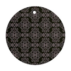 Line Geometry Pattern Geometric Round Ornament (Two Sides)