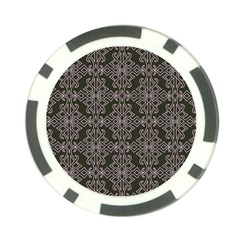 Line Geometry Pattern Geometric Poker Chip Card Guard