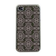 Line Geometry Pattern Geometric Apple iPhone 4 Case (Clear)