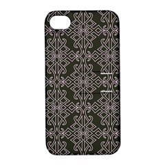 Line Geometry Pattern Geometric Apple Iphone 4/4s Hardshell Case With Stand
