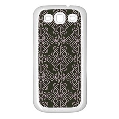 Line Geometry Pattern Geometric Samsung Galaxy S3 Back Case (white)
