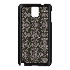 Line Geometry Pattern Geometric Samsung Galaxy Note 3 N9005 Case (black)