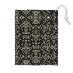 Line Geometry Pattern Geometric Drawstring Pouches (Extra Large)