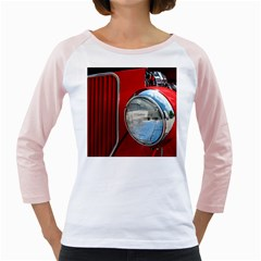 Antique Car Auto Roadster Old Girly Raglans