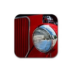 Antique Car Auto Roadster Old Rubber Square Coaster (4 pack)