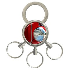 Antique Car Auto Roadster Old 3 Ring Key Chains