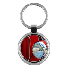 Antique Car Auto Roadster Old Key Chains (round)