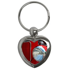 Antique Car Auto Roadster Old Key Chains (Heart)