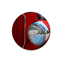 Antique Car Auto Roadster Old Rubber Coaster (round)