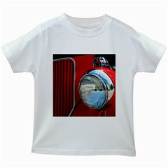 Antique Car Auto Roadster Old Kids White T-Shirts