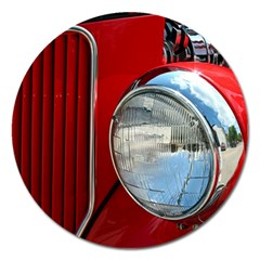 Antique Car Auto Roadster Old Magnet 5  (round)