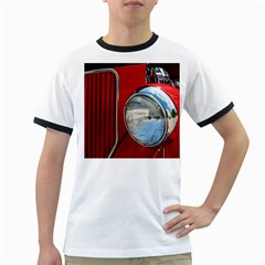 Antique Car Auto Roadster Old Ringer T Shirts