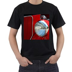 Antique Car Auto Roadster Old Men s T Shirt (black) (two Sided)